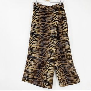 90's Fashion Bug tiger print faux wrap skirt pants